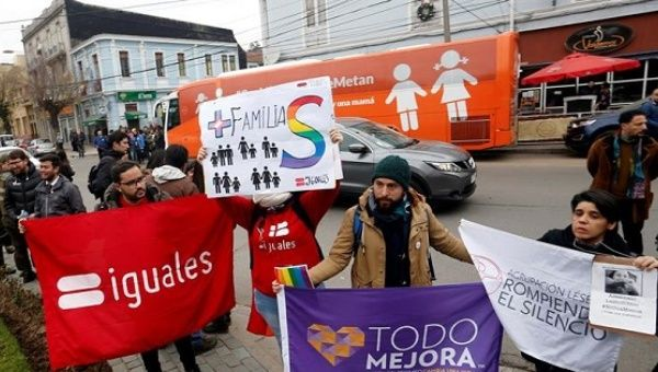 LGBT activists protesting against the